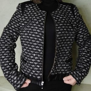 The limited Jacket size Large faux leather tweeted
